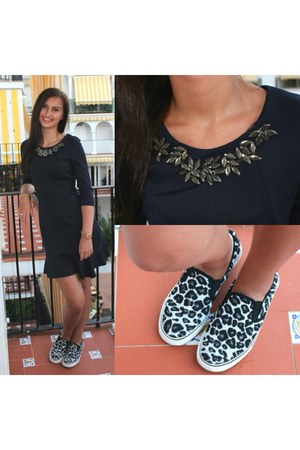 black Primark shoes - navy Zara dress