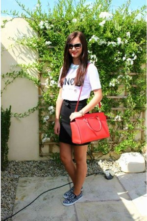 black Primark shoes - carrot orange Michael Kors bag - black sunglasses