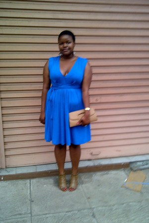 blue Twist dress
