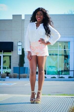 Blush Nashville shorts - Blush Nashville blouse