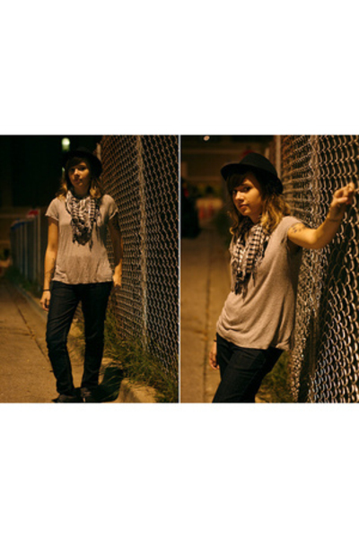 forever 21 hat - H&M t-shirt - forever 21 jeans - H&M shoes