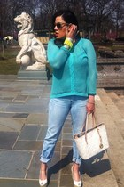 Forever 21 sweater - Mandee jeans - Michael Kors bag - Jessica Simpson wedges