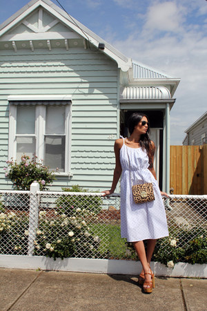Mimco bag - Kings Of Carnaby dress - ray-ban sunglasses - lipstick heels