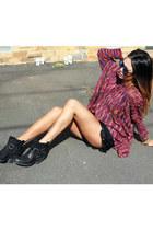 sabo skirt jumper - Sportsgirl boots - sabo skirt shorts - Le specs sunglasses