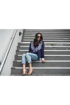 One Teaspoon jeans - Maurie & Eve jacket - Karen Walker sunglasses