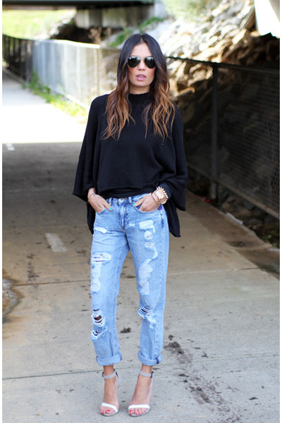 asos jeans - sabo skirt jumper - asos heels - Michael Kors watch - asos bracelet