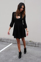 Something Else dress - tony bianco boots - Topshop jacket - Mink Pink necklace