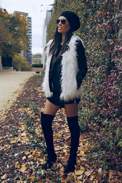 Witchery boots - Sportsgirl hat - Topshop jacket - One Teaspoon shorts