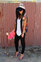 Sportsgirl vest - Bassike pants - Alexander Wang top - asos heels
