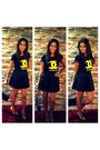 Black-chanel-bag-black-leather-look-h-m-skirt-yellow-zara-heels