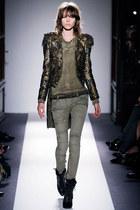 gold Balmain blazer