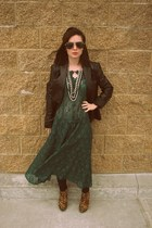 vintage dress - Charlotte Russe shoes - vintage jacket