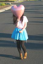 Target top - DIY skirt - Charlotte Russe heels