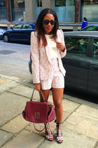 Reiss blazer - Carolina Herrera bag - Reiss shorts - Reiss sandals