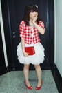 Red-random-brand-blazer-white-custom-made-skirt-red-guess-shoes-red-celine