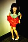 Green-zara-top-orange-river-island-skirt-white-random-brand-shoes-forever2