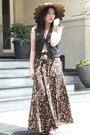 Scallop-asos-hat-sleeveless-top-leather-forever-21-vest-leopard-maxi-skirt