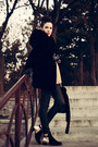 Black-lovely-shoes-boots-black-jollychic-coat-yellow-jollychic-sweater