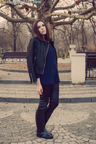 navy Rosewholesale sweater - Decathlon boots - black PERSUNMALL jacket