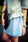 Heather-gray-front-row-shop-dress-black-front-row-shop-bag