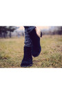 Black-lovely-shoes-boots-charcoal-gray-kiabi-jeans