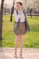 dark brown Zara skirt