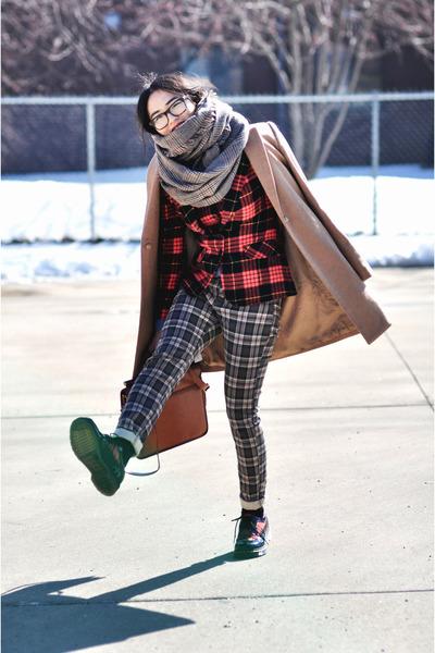 blazer - Mango coat - Zara scarf - DrMartens flats