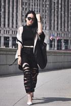 zebra cutout Alexander Wang jeans