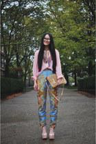 sky blue baroque versace jeans - suede satchel asos bag