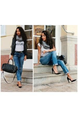 navy Bershka jeans