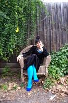 Diva collar necklace - vintage eBay dress - columbine tights - Jo Mercer heels