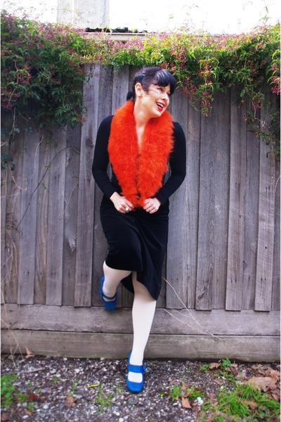 Novo heels - asos tights - Sportsgirl scarf - Miss Shop top - thrifted skirt