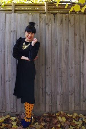 vintage ebay dress - Sportsgirl tights - Lovisa necklace - Sportsgirl heels