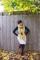 Dangerfield dress - Ambra tights - Sportsgirl scarf - portmans belt