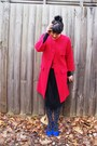 Vintage-thrifted-coat-vintage-dress-etsy-dress-alannah-hill-tights