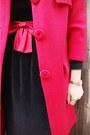 Vintage-thrifted-coat-vintage-dress-etsy-dress-alannah-hill-tights