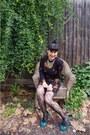Ungaro-dress-myer-tights-lovisa-necklace-topshop-pumps
