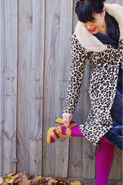 Myer coat - vintage eBay dress - columbine tights - rubi heels