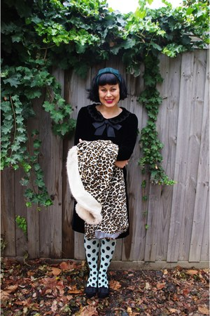 Happy Socks tights - Vintage etsy dress - Myer circa 98 coat