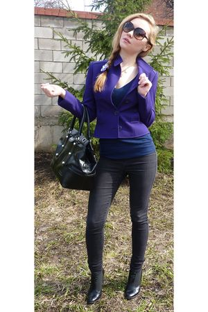 Valentino blazer - Topshop pants - D&G purse - Gucci sunglasses
