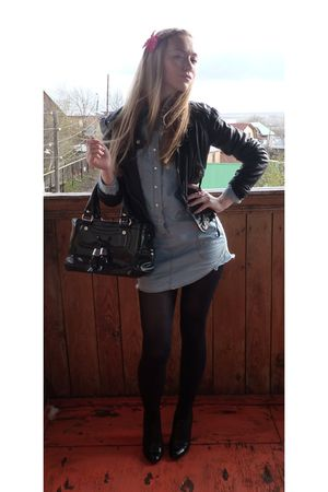 Zara jacket - Topshop shirt - Celine purse