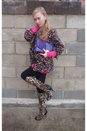 Topshop coat - Giuseppe Zanotti boots - American Apparel leggings - Dorothy Perk