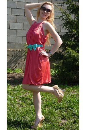 christian dior shoes - River Island dress - Arrogant Cat belt - Gucci sunglasses