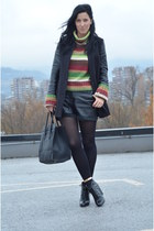 united colors of benetton sweater - H&M shoes - H&M jacket - wwwvj-stylecom bag