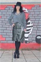 H&M shoes - vintage sweater - H&M bag - vintage skirt