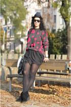 vintage sweater - wwwfeliceecom skirt - Ringeraja necklace