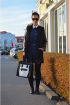 vintage dress - Aldo shoes - H&M jacket - wwwvj-stylecom bag