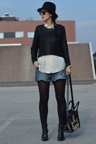H&M shoes - H&M sweater - Ebay bag