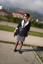 Esprit dress - H&M accessories - vintage blazer