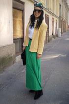 jacket - skirt - wedges